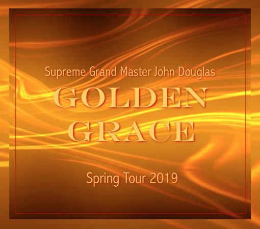 Golden Grace Spring Tour 2019 on gold background
